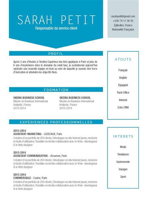 Cv Moderne by Mise En Page Cv Cv Ultra Moderne 183 Mycvfactory