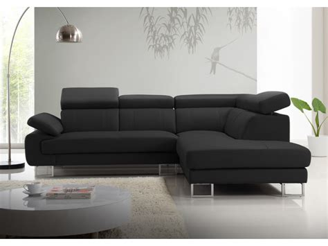 canapé d angle gris et noir canapé d 39 angle en cuir de vachette 5 coloris colisee