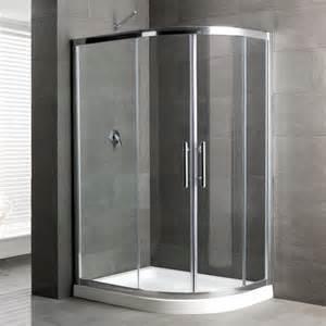 Inset Shower Tray by Eastbrook Volente Offset Quadrant Shower Enclosure