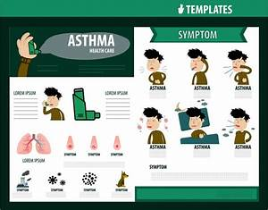 healthcare brochure design with asthma symptom infographic With asthma brochure template