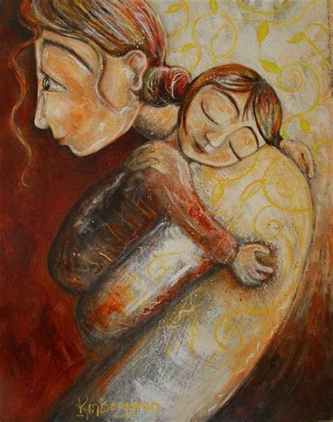 whimsical mother  children art  pastel colors moving