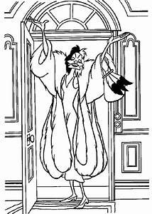 Walt Disney Cruella De Vil Coloring Pages To Print