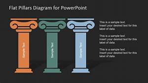 Flat Pillars Diagram For Powerpoint