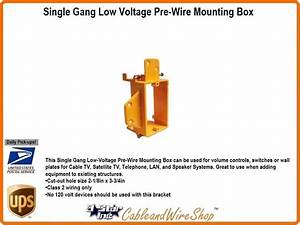 New Work Single Gang Low Voltage Mounting Box Network Cabling