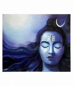 Nilima Glossy Shiva Oil Painting: Buy Nilima Glossy Shiva