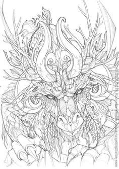 printable coloring pages  adults advanced dragons google search favorite coloring