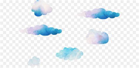 blue sky cloud computer wallpaper dream watercolor