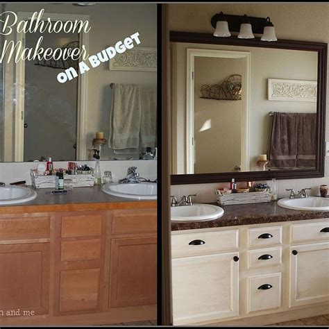 mobile home kitchen makeovers master bath budget friendly makeover budgeting bath and 7554