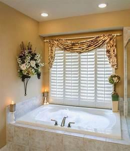 curtain ideas bathroom window curtains with attached valance With treatment for bathroom window curtains ideas