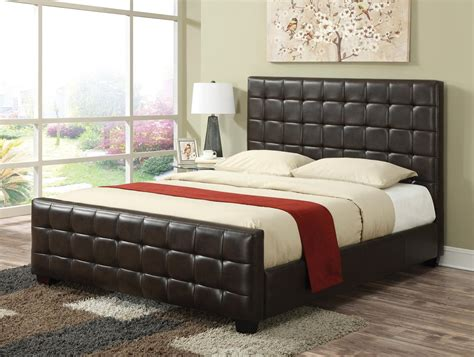 california king bed mattress coaster 300042kw brown california king size leather bed