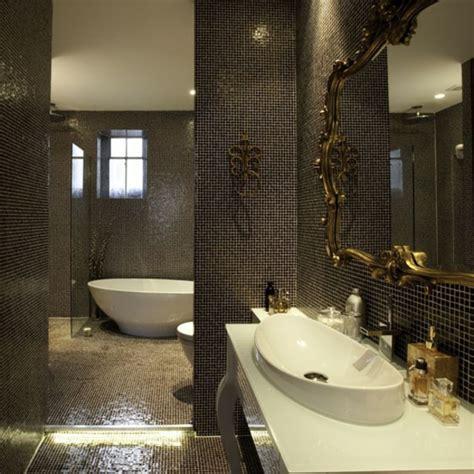 le carrelage mosaique pour la d 233 co de la salle de bains carrelage mosaique miroir baroque et
