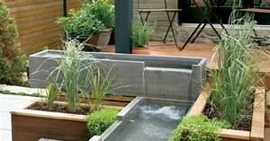Gartengestaltung Mit Beton : moderne terrassengestaltung mit holzboden teiche aus beton gartengestaltung garten und ~ Markanthonyermac.com Haus und Dekorationen