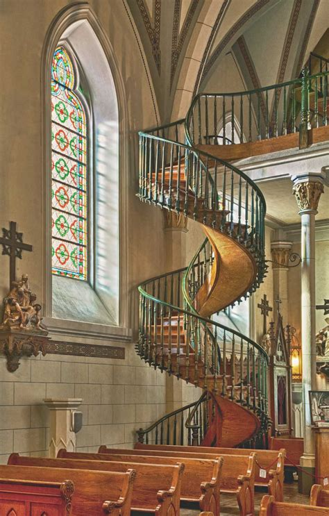 New Mexico Church With Spiral Staircase by The Finest Magazine Listen To Stories Of Spiral Staircases