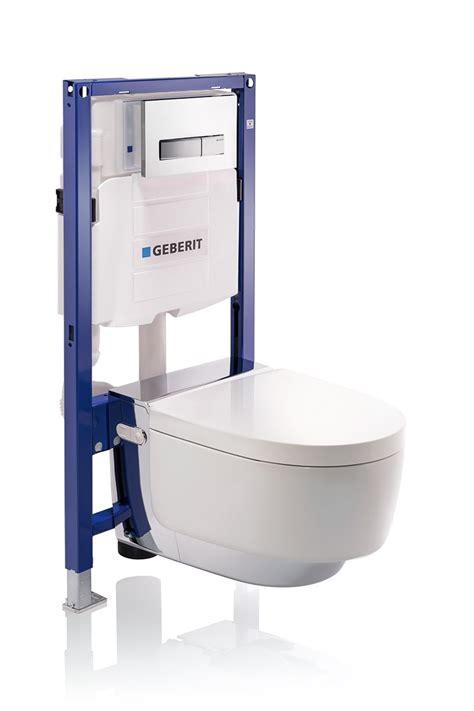wall hung toilet with bidet aquaclean mera by geberit italia