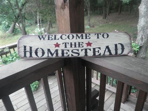 Primitive Sign Welcome The Homestead Decor