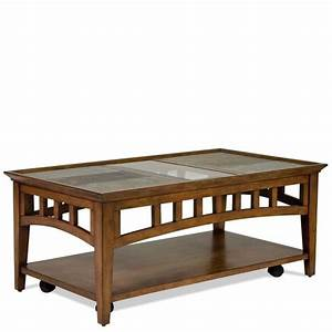 Riverside andorra rectangular coffee table in eden for Rectangular cherry coffee table