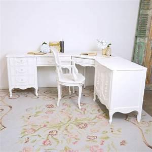 Shabby Chic Stühle : 3 piece corner desk set ooak shabbychic homeoffice chic office pinterest desks ~ Orissabook.com Haus und Dekorationen