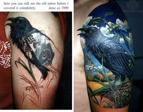 raven tattoos  sleeve