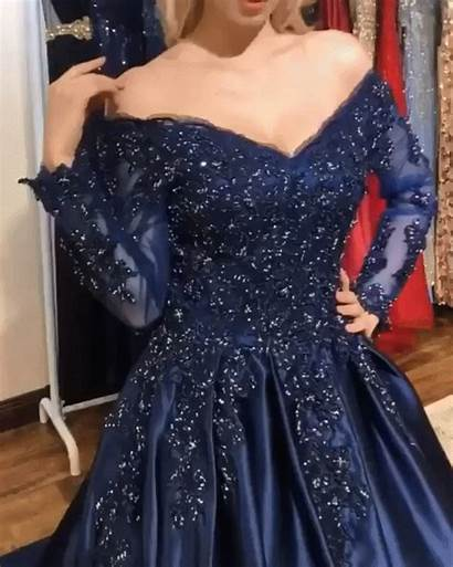 Dresses Prom Gown Ball Sleeves Clothes Evening