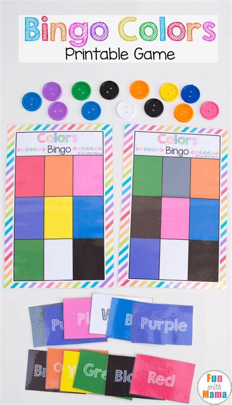printable bingo colors with 807 | preschool bingo game colors