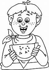 Coloring Watermelon Estate Colouring Wassermelone Printable Yummy Ausmalbilder Eat Sheet Preschool Disegni Kolorowanki Colorear Letni Czas Dibujos Colorare Sull Verano sketch template