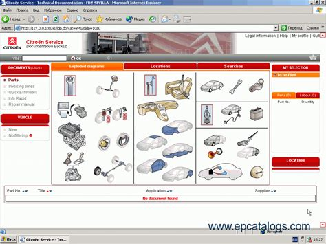 citroen service box electronic parts catalog
