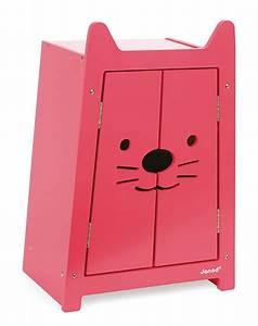 Armoire Babycat En Bois Pour Habits Poupe Meuble Janod