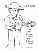 Cinco Mayo Coloring Printable Preschool Holiday Adults Makinglearningfun Crafts Activity Activities Template Difficult Animals Credit Larger Craft Children sketch template
