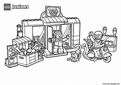 Lego Supermarket Coloring Pages Sweet Printable Coloriage