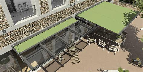 avant toit en verre protection solaire avec stobag