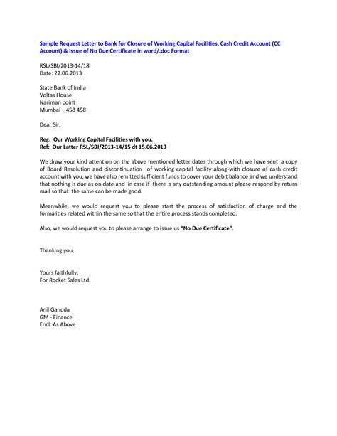 sle cover letter for closing bank account cover letter