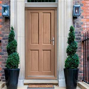 Colonial Hardwood 4 Panel External Door and Frame Set with