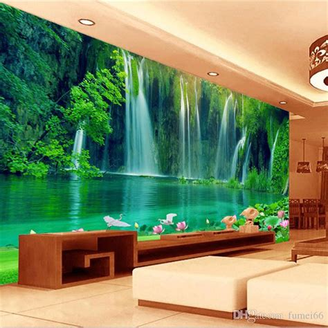 seamless large scale mural  stereo landscape tv living