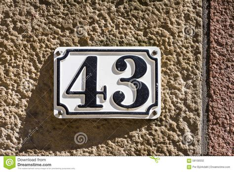 Number 43 Stock Photo  Image 58158332