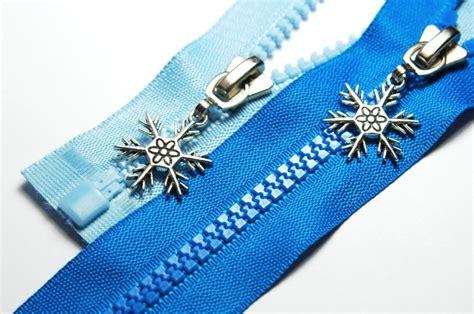 reißverschluss zipper shop rei 223 verschl 252 sse l 228 nge 55cm rei 223 verschluss mit motivzipper quot snowflack quot teilbar l 228 nge 55cm