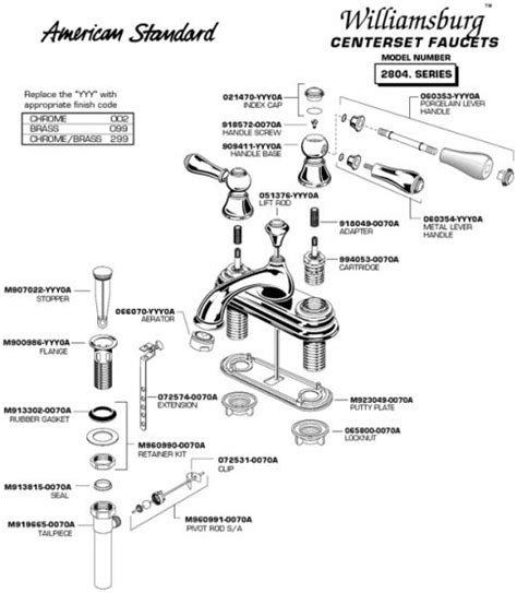 how to repair american standard kitchen faucet american standard repair parts faucet 6 parts diagram for williamsburg series centerset