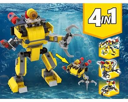Build Robot Moc Alternative Submarine Rebrickable Lego