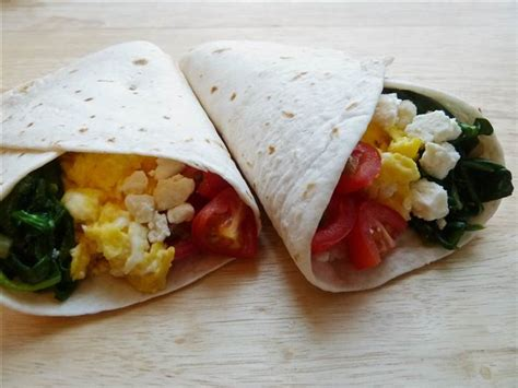 Breakfast Burrito with Spinach