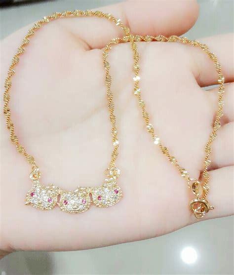 kalung fashion panjang jual kalung anak rantai tiga xuping perhiasan