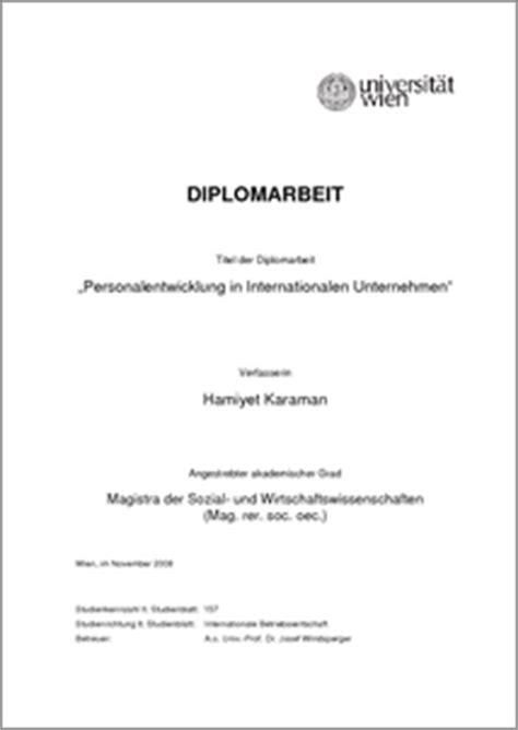 personalentwicklung  internationalen unternehmen  theses