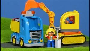 Aufbewahrungsbox Für Lego : lastwagen bagger auf der baustelle von lego duplo bau serie f r kinder youtube ~ Buech-reservation.com Haus und Dekorationen