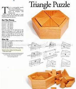 Triangle Puzzle Plans • WoodArchivist