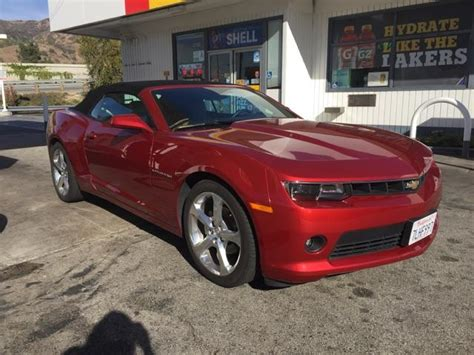 camaro rs convertible rental review california