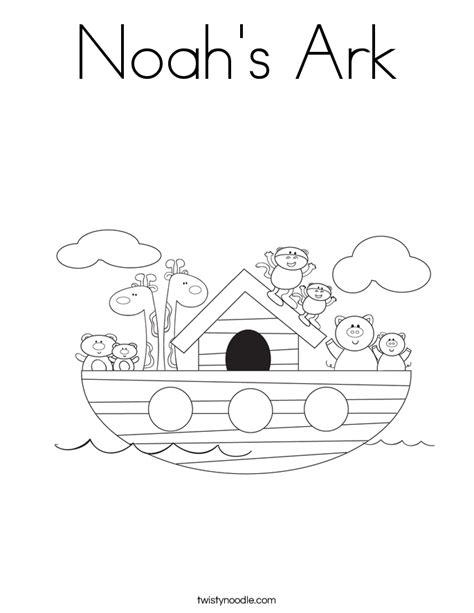 noahs ark coloring page twisty noodle
