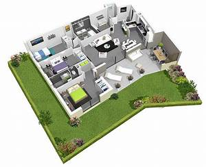 plan 3d grenouille crocodil studio aix en provence With plan d appartement 3d 1 plan de maison 60m2 3d