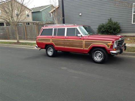 jeep wagoneer 1990 find used 1990 jeep grand wagoneer 4x4 bright red 1989