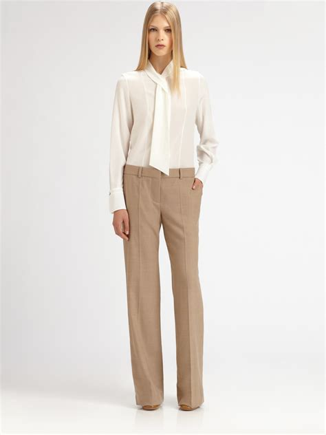tie blouse lyst chloé silk neck tie blouse in white