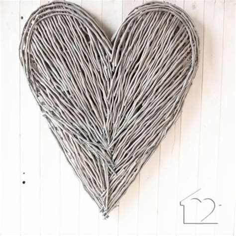 These gorgeous driftwood hearts are not mass produced in factories, each heart is lovingly hand made and every piece is an original with no two pieces being exactly the same. Extra Large Wicker Heart - £47.00 - Driftwood Art from ...
