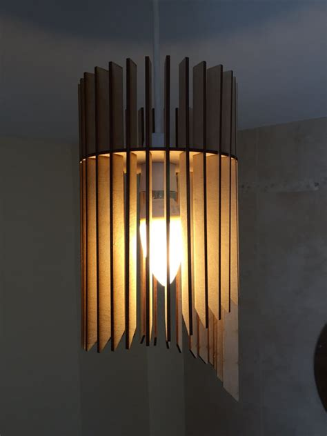 Laser Cut L Shade by Cascade Design Laser Cut Wooden Hanging L Shade