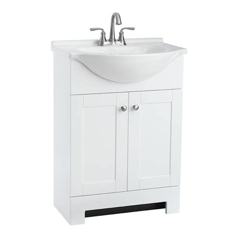 lowes small bathroom sinks shop style selections euro white integrated single sink